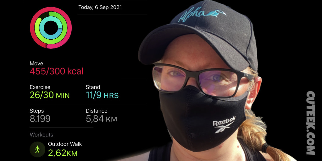 Apple Watch Stats Day 6 Fitness Gaming Challenge September