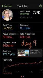 Day 9 Fitness Gaming Challenge September
