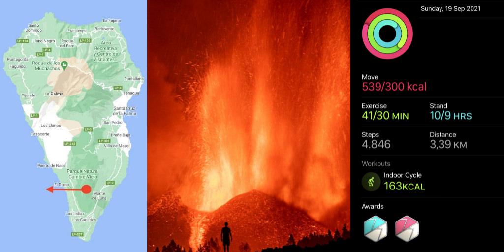 Volcanic Eruption La Palma Island